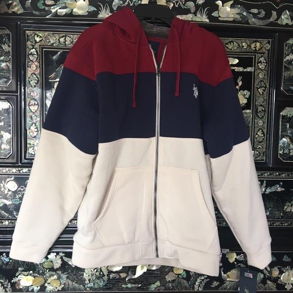 U.S Polo Association Men/'s Basic Vest Zip Front Hooded Jacket